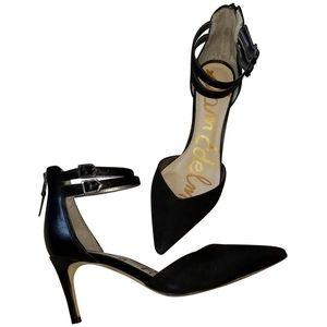 Sam Edelman Oriana Suede Strap Pointed Heels 10